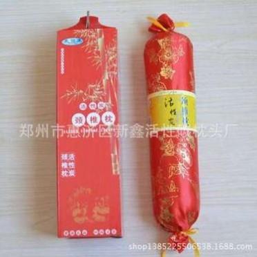 【会销礼品】厂家直销竹炭活性炭颈椎枕 糖果型环保会销礼品枕